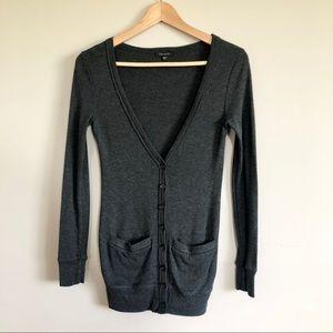 Aritzia Talula Dark Gray Cardigan w/ Pockets